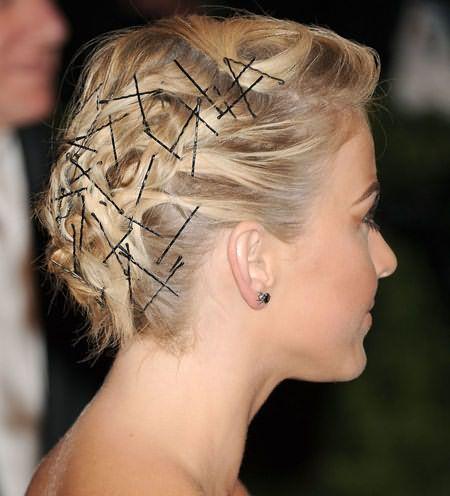 Невидимки можно использовать даже на очень коротких волосах