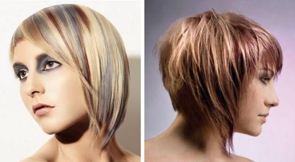 каре мелирование на русые волосы фото