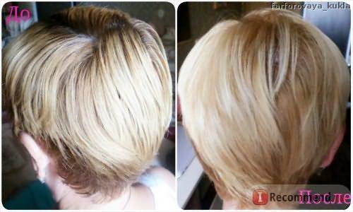 Краска для волос Loreal Casting Creme Gloss 10.21 до и после