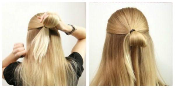Как сделать бант из волос: шаг 3-4