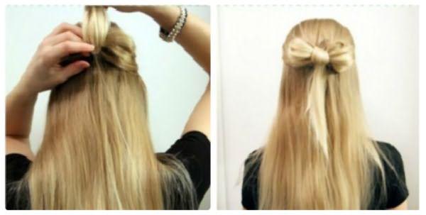 Как сделать бант из волос: шаг 7-8