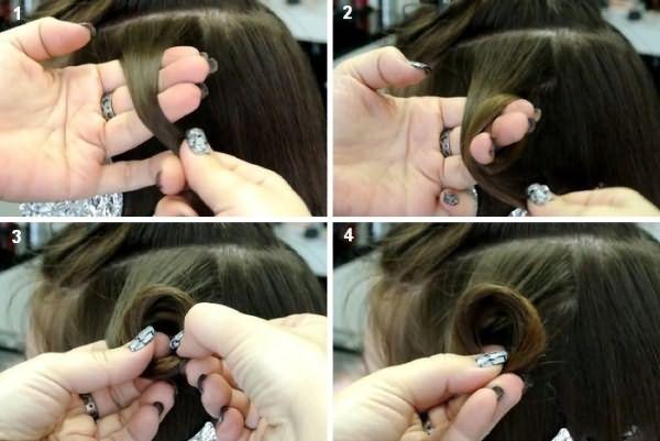 Колечко из волос