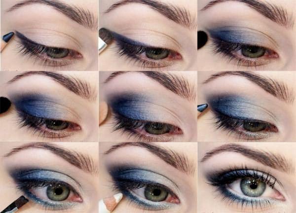 Пошаговый дымчатый макияж