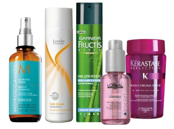 Профессиональные средства для блеска волос