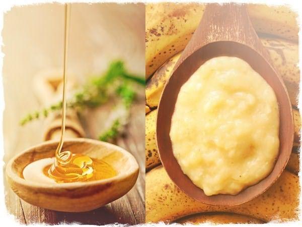 Мед и банановое пюре