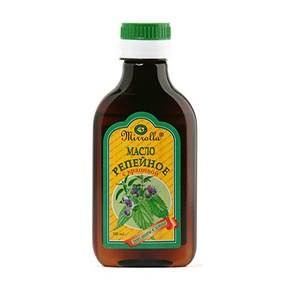 Репейное масло для приготовления яичной маски