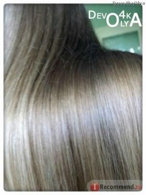 Волосы заблестели