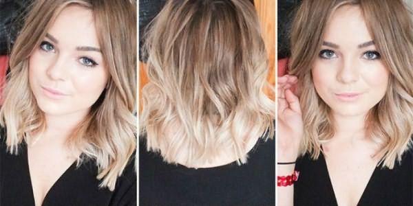 Окрашивание омбре для русых волос средней длины