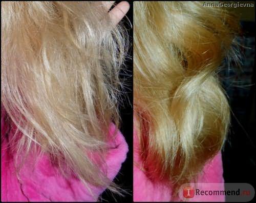 Кончики волос с разницей почти в 2 месяца