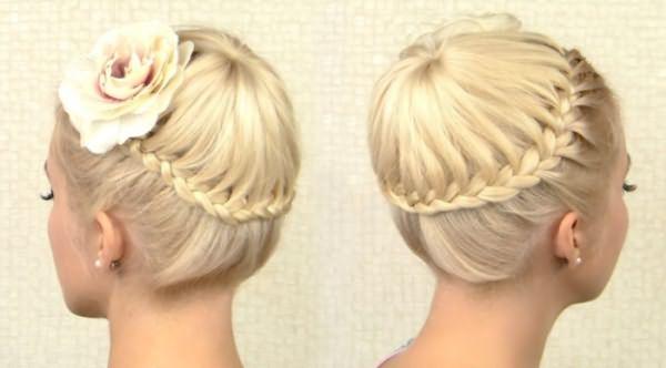 Ободок из косы вокруг головы