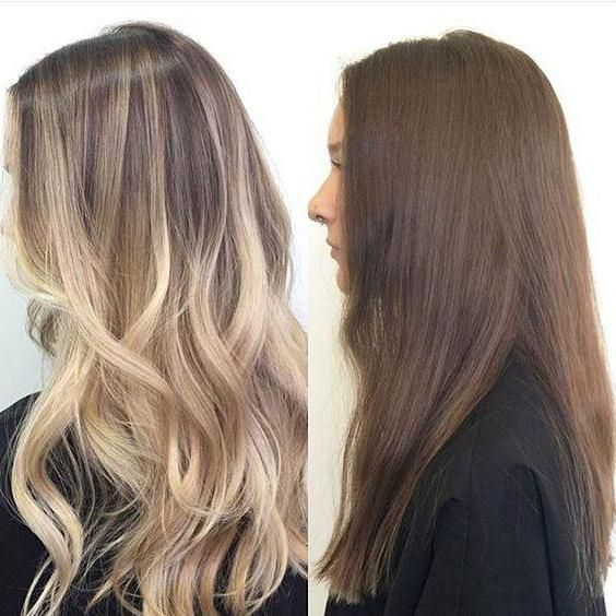 окрашивание светлых волос фото после