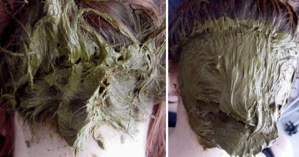 нанесение хны на волосы