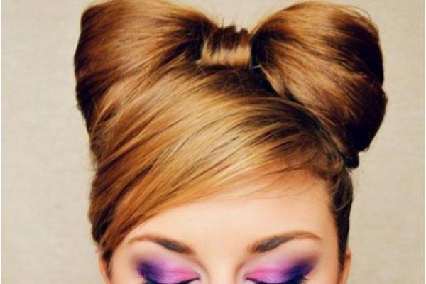 прическа бантик из волос пошаговая инструкция