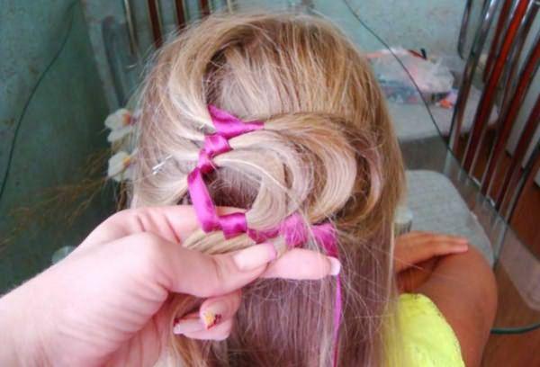 Процесс воссоздания извилистой косы: шаг 7