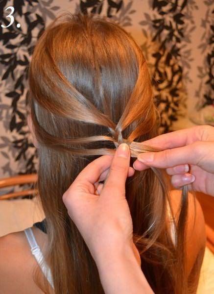 Создание праздничной косы: шаг 3