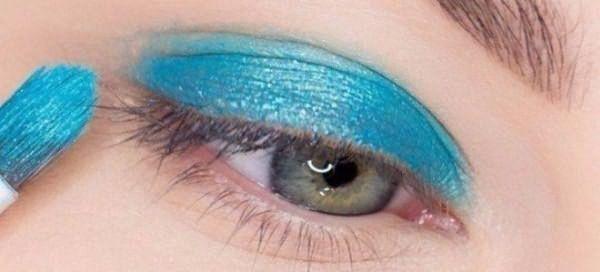 красивый макияж для голубых глаз 1