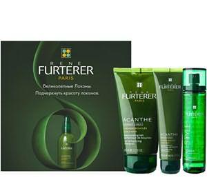 Комплект «Великолепные локоны» от бренда Rene Furterer предназначен больше для формирования привлекательных кудрей из вьющихся от природы волос.
