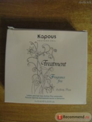 Лосьон против выпадения волос Kapous Treatment active plus фото