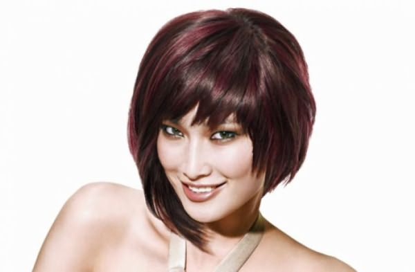стрижки на средние волосы асимметрия