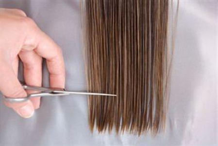 как подстричь концы длинных волос