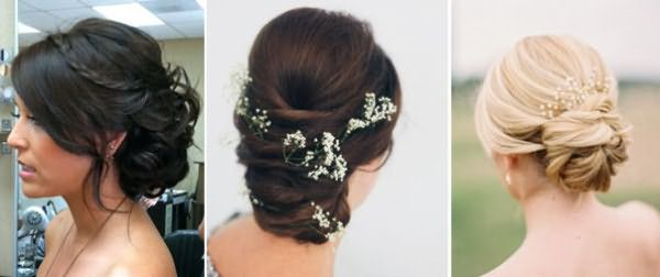 Элегантные свадебные прически на средние волосы