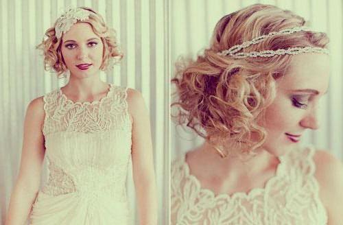 свадебные прически на короткие волосы фото