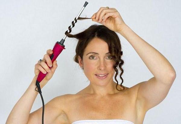 долговременная укладка на средние волосы крупные локоны