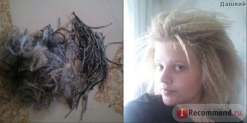 Косы и волосы сразу после расплетения