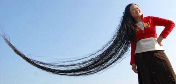 Ксие Квипинг и почти шестиметровые волосы