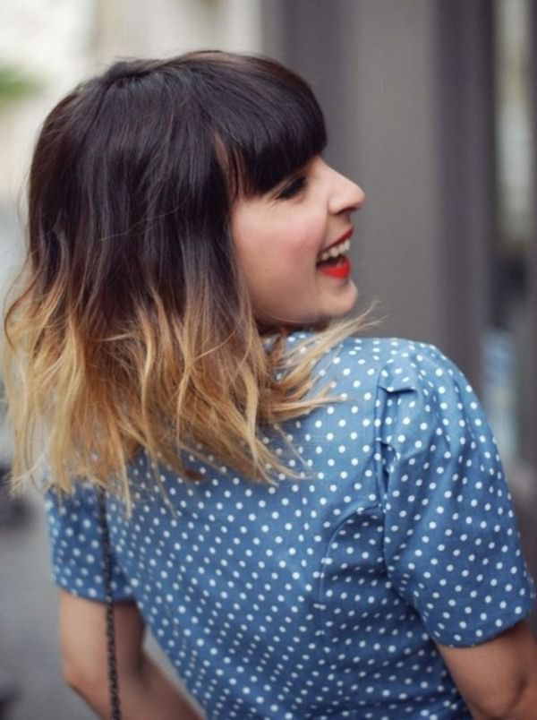 колорирование на короткие темные волосы фото