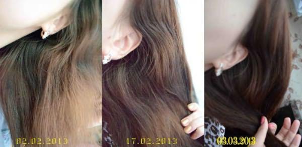 Волосы до и после применения ампул