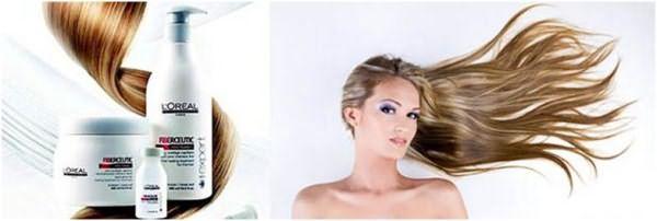Ботокс для волос от Лореаль и светловолосая девушка