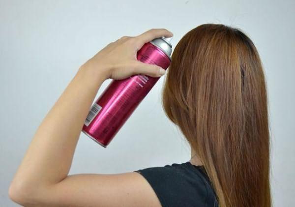 Выпрямление волос спреем