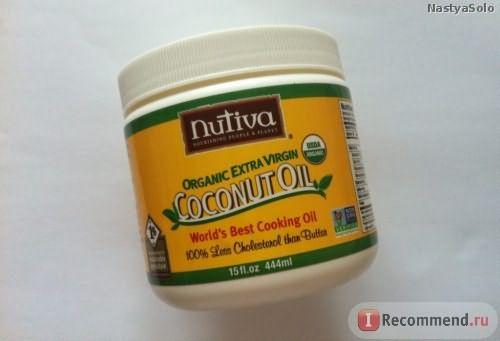 Кокосовое натуральное масло Nutiva Organic Extra Virgin Coconut Oil фото