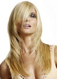 длинные волосы с косой челкой 8