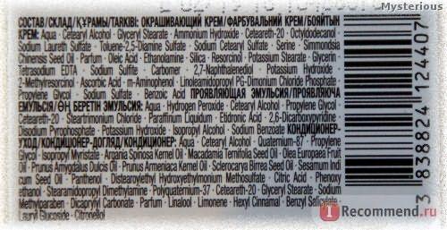 Стойкая крем-краска для волос Schwarzkopf Palette Фитолиния - СОСТАВ