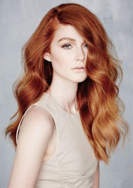 Мелкое мелирование на рыжих волосах - 2