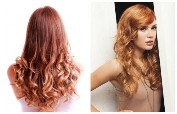 Мелирование на окрашенные в рыжий цвет волосы