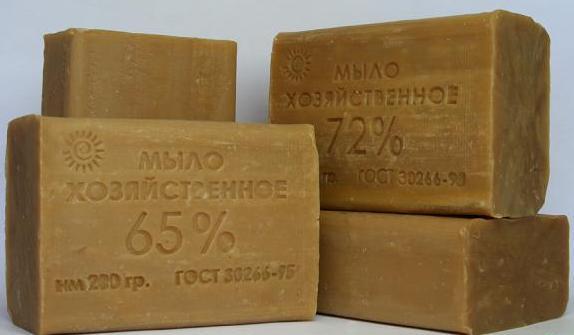 Щелочная структура хозяйственного мыла поможет вам в решении проблемы