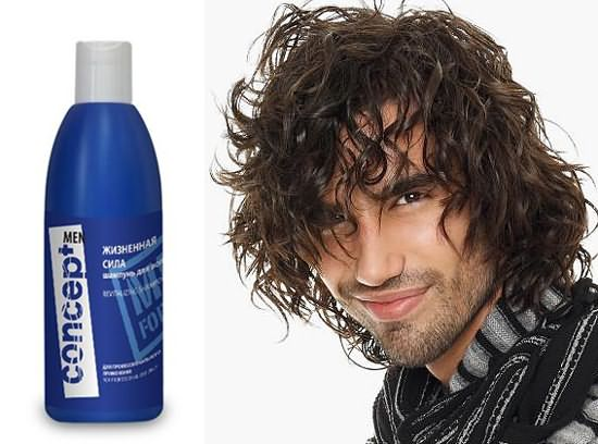 На фото – красивые мужские волосы после мытья