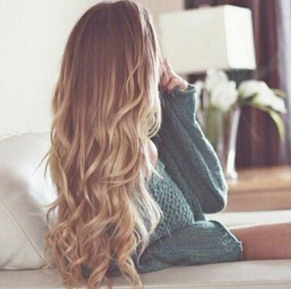 покраска омбре на длинные волосы