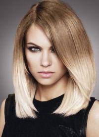 омбре на длинные прямые волосы 6