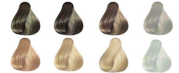 Волосы окрашенные на стенде