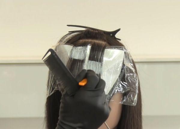 как сделать пиксельное окрашивание волос 4