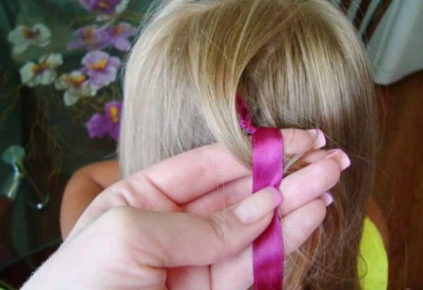 Процесс воссоздания извилистой косы: шаг 1