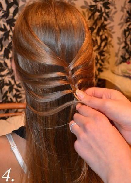 Создание праздничной косы: шаг 4