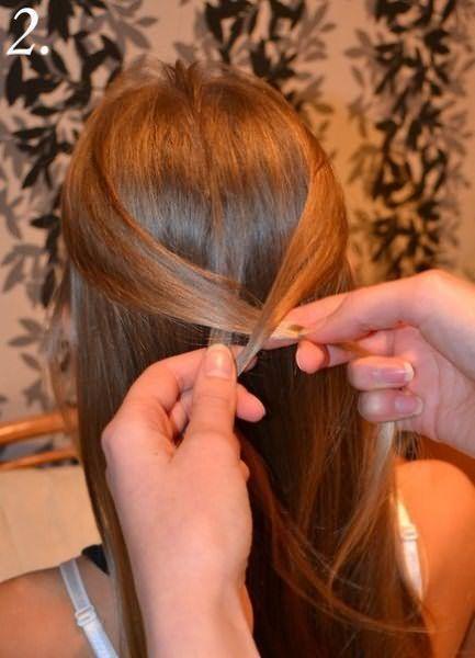 Создание праздничной косы: шаг 2