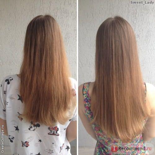 Волосы до/после шампуня Nutrapel Force Shampoo