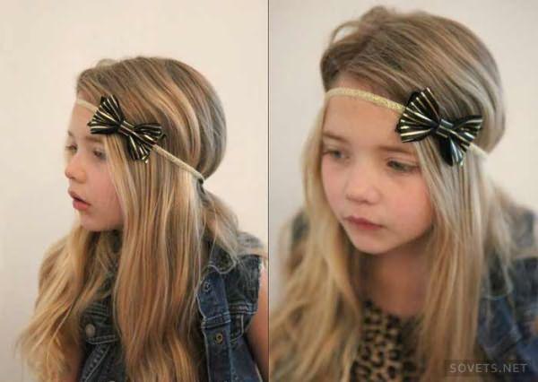 Прическа с резинкой на длинные волосы