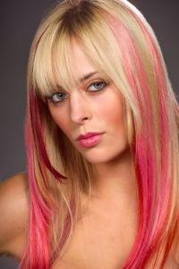 Розовые волосы 7